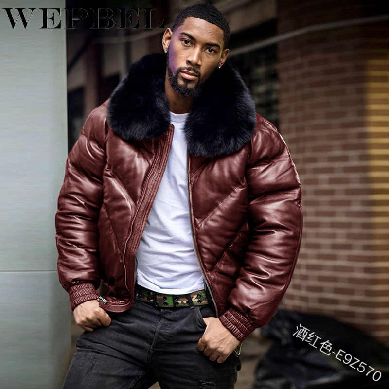 New Mens Thicken Fleece Jacket Trench Pu Leather Winter Fur Lined Parka Coat New