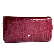 HH Fashion Women Wallets and Purses  Wristlet Wallets Female Zipper Long wallet Ladies ID Card  Coin Purse  Alligator Clutch