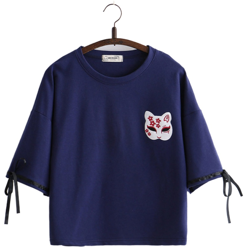 Cat Lady Embroidered Women/'s T-Shirt