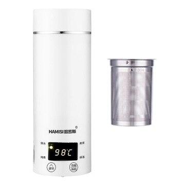 Портативный электрический чайник Miini, водное тепловое отопление, бойлер для путешествий из нержавеющей стали, заварник для чая кофе, молока,