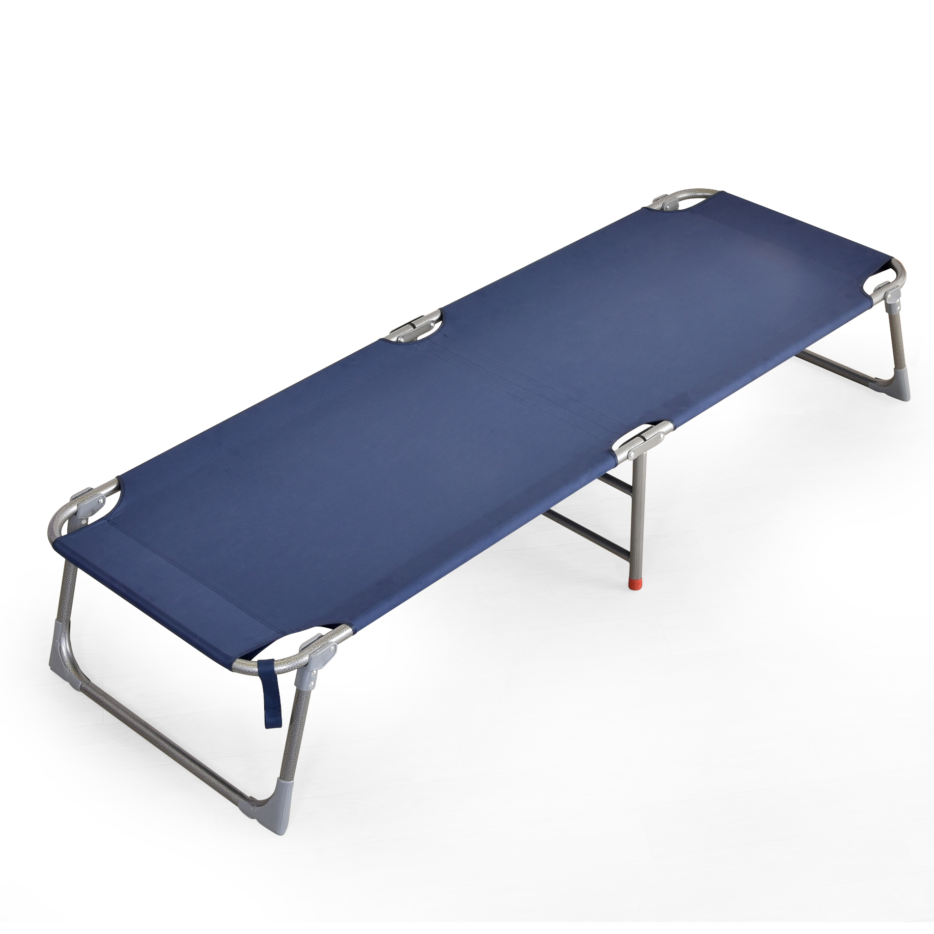 Folding Bed Household Single Bed Portable Nap Bed Reinforcement Simple Bed Canvas Office Bed Lunch Bed Camp Bed