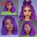 Brazilian Short Bob Lace Front Wigs Purple 613 Blonde 1B 27 30 Orange Pink Red Ombre Grey 13x6 Straight Remy Human Hair Wigs