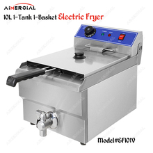 EF101V Electric counter top Thermostat Deep Fryer S.Steel Frying Machine Commerical Oil fryer for chips/fried chicken цена и фото