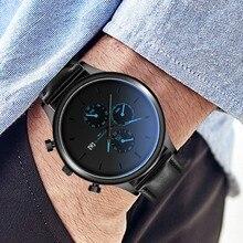 US $1.82  Men's neutral explosion watch fashion watch leather luxury date watch sports watch holiday gift часы мужские мужские часы 50* on AliExpress