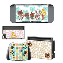 Animal Crossing Screen Protector Sticker Skin for Nintendo Switch NS Console Dock Charger Stand Holder Joycon Controller Sticker