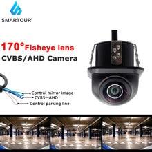 Smartour HD CCD Fisheye Lens Front/Rear View Camera AHD Night Vision Backup Parking Waterproof For Reversing Monitor