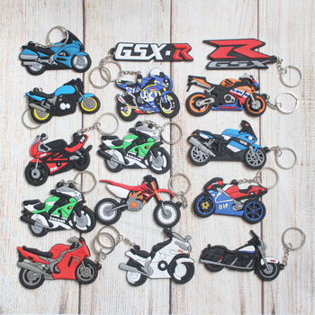 Motorcycle Accessoris Keychain Keyring Keyfob Rubber Key Ring for Honda kawasaki BMW Suzuki Yamaha image