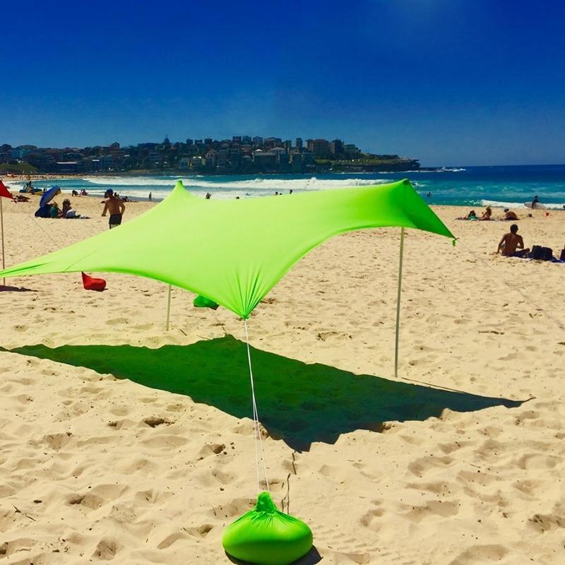 210x210 cm ao ar livre praia kale dossel sombra tenda de acampamento legal protetor solar uv dossel portátil barraca de pesca de acampamento - 5