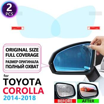 Полное покрытие противотуманной пленки непромокаемое зеркало заднего вида для Toyota Corolla E170 E160 2014 ~ 2018 автомобильные наклейки аксессуары 2015 2016 2017
