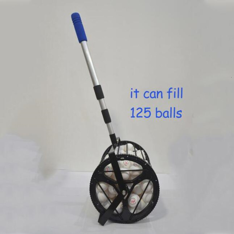 Bucket Style Table Tennis Balls Collector Pingpong Ball Easy Pick Up Gear Retriever Fill 125 Balls HW253