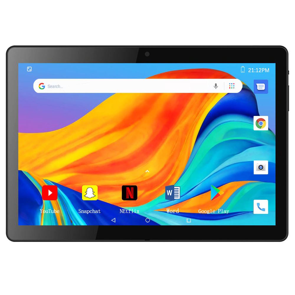 ZONKO 2020 Tablet Android 9.0 10 Inch Tablets 3G Phone Call Tablet PC Quad-Core 2GB RAM 32GB ROM Dual Cameras WiFi  800*1280 IPS