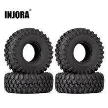 INJORA-neumáticos de goma para coche trepador de control remoto Axial SCX10 1,9 AXI03007 Traxxas TRX4, 4 Uds.