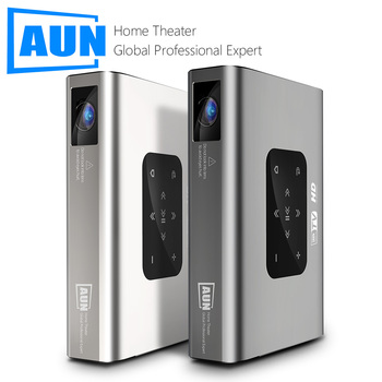 AUN Projector X5 | 4K Android WIFI 3D 10500mAH Battery 300inch 1080P DLP MINI Portable Vedio Projector Laser Beamer GYM Smart TV vivicine smart pico projector p09 android 6 0 bluetooth built in 4000mah battery smart miracast airplay mobile proyector beamer