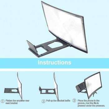 12 Inches 3D  Phone Screen Magnifier Movie Video Amplifier Holder Enlarger Screen Smart Phones Magnifying Bracket