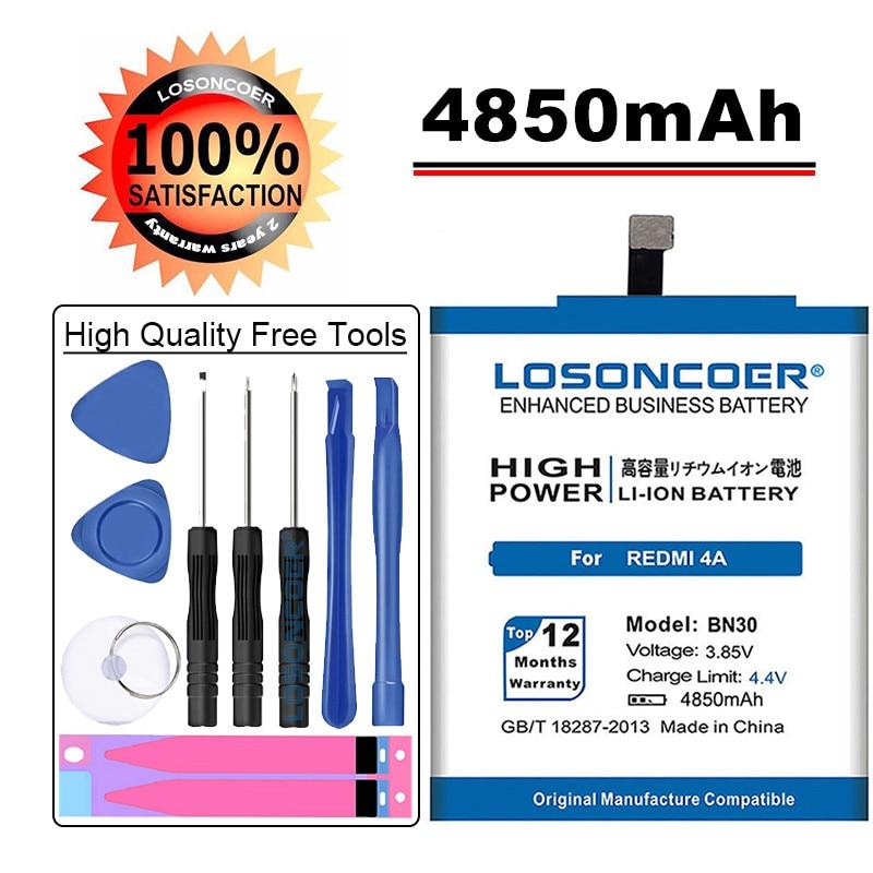 Новые поступления LOSONCOER 4850mAh BN30 для Xiaomi Hongmi Redrice Redmi 4A батареи|batteries batteries|battery forbattery 3600mah | АлиЭкспресс