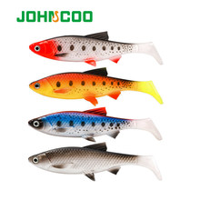 Johncoo 15cm 36g isca macia grande 3d olho swimbaits wobbler pique baixo pesca silicone shad crankbait