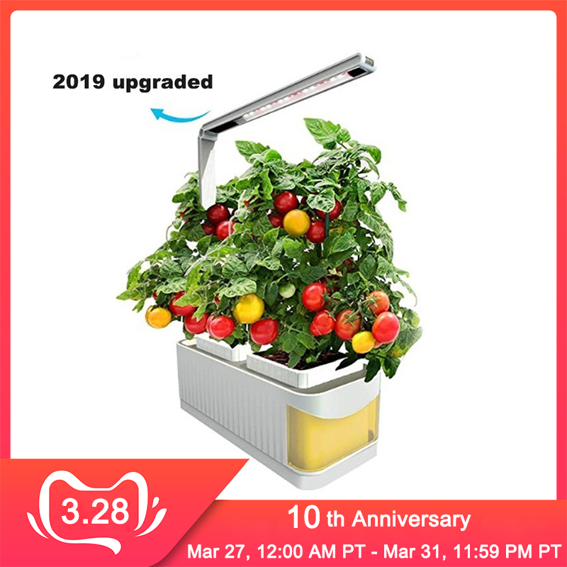 Smart Flowerpot Gardening Self-watering Pots Indoor Planter Plant Nursery Pot Hydroponic Growing System With LED Grow Light
