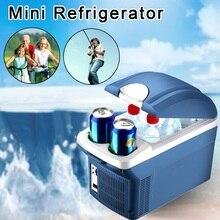 8L Mini Car Fridge Travel Refrigerator Dual Use Heat Cooler Warmer Portable for Auto Car Home Office Outdoor Picnic Travel