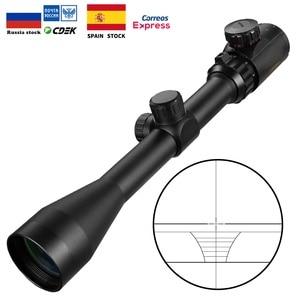 Mira de caza iluminada 3-9x40 EG, rojo/verde, mira telescópica de oro, militar, vista de francotirador, ciervo, mira telescópica de rifle, Mildot