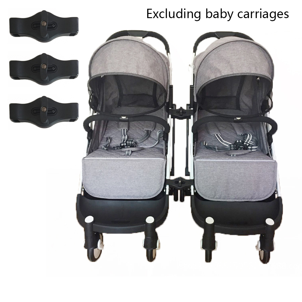 3PCS/Set Adapter Portable Pushchair Couplers Linker Connector Accessories Durable Black Twins Joint For Baby Stroller