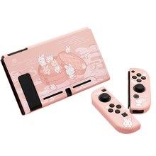 Coque souple en TPU rose pour Console de jeu Nintendo Switch, dessin animé mignon, pour contrôleur