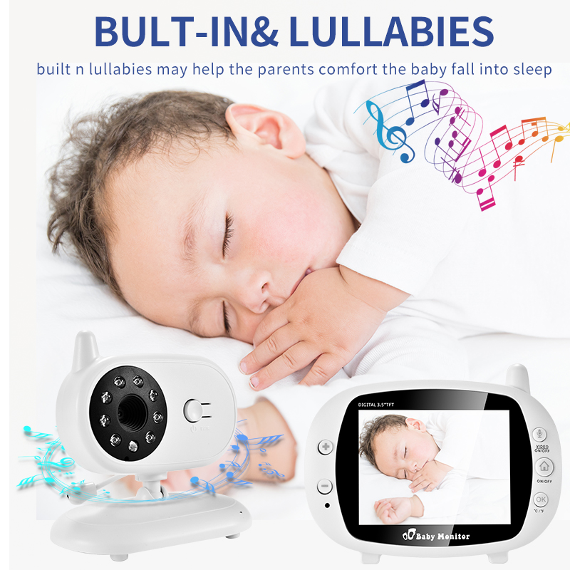 3.5 Inch Video Wireless Baby Monitor VOX Security Camera Nanny IR Night Vision Voice Call Babyphone With Temperature Monitoring