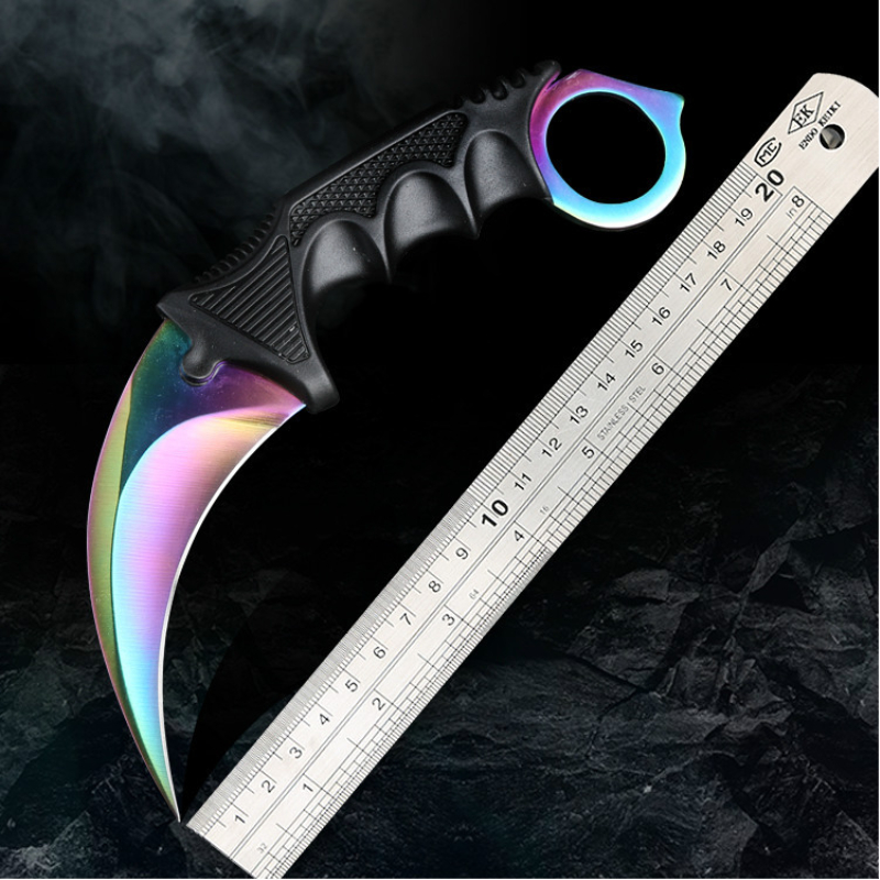 Steel Claw Knives Karambit Hunting Knife CS GO Tactical Claw Neck Knife Camp Hike Outdoor Self Defense Hunting Survival Knife