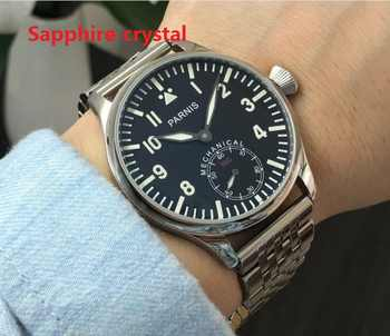 Sapphire crystal  luminous 44mm parnis Black dial Asian 6498  Mechanical Hand Wind movement men's watches 0142A - DISCOUNT ITEM  45% OFF All Category