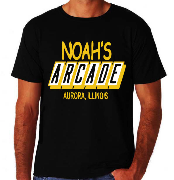 Wayne's World Noah's Arcade Funny Classic 90's Party Comedy Movie Black T-Shirt Hip Hop Novelty T Shirts Men'S Brand Clothing image