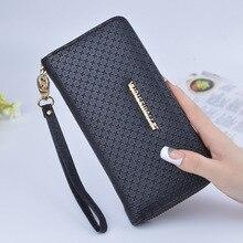 Wallet Female Purses Bag Women Large-Capacity Wristband Long Leaf-Print