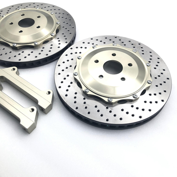 High Performance Racing Car Drilled Brake Disc with center cap FOR BMW-E90/audi-Q5 Front Wheel 17-20inch image