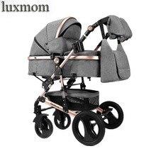 Luxmom Коляска 2 в 1 коляска двусторонний тележка регулируемый подлокотник Four seasons подходят для использования