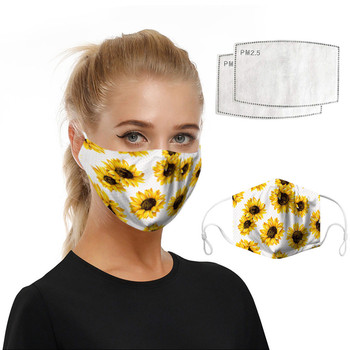 Protective Printing Reusable PM2.5 Filter mouth Mask anti dust Face mask Windproof Mouth-muffle bacteria proof Flu Mask