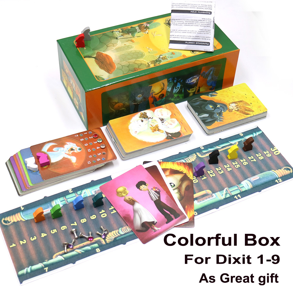 2019 Obscure Dixit Board Game Deck 1+2+3+4+5+6+7+8+9 Cards Game Wooden Bunny Russian And English Rules For Home Party Fun