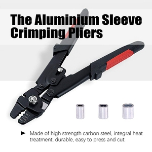 Image 2 - Wire Rope Crimping Tool Wire Rope Swager Crimpers Fishing Plier with Crimp Sleeves Kit