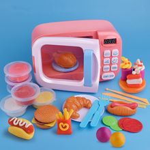 Children's Simulation Multi-functional Small Appliances Microwave/Oven With Sound And Light Timing Kids Playhouse Kitchen Toys все цены