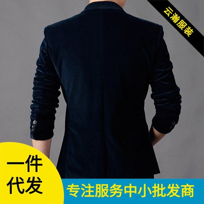 2015 New Style Autumn And Winter Suit Men Korean-style Slim Fit Single Leisure Suit Corduroy One-Button Suit Coat