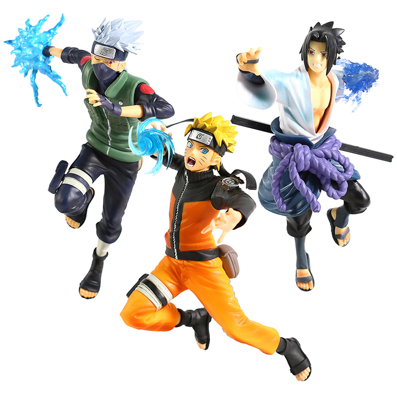 Naruto Shippuden Vibration Stars Hatake Kakashi / Uchiha Sasuke / Uzumaki Naruto PVC Figure Collectible Model Toy