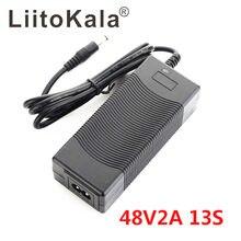 Liitokala 13s 48v 2a carregador de bateria de lítio-íon 5.5*2.1mm universal 54.6v 2a ac dc fonte de alimentação adaptador ac e-bike carregador