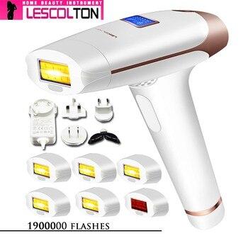 100% Original Lescolton 6in1 5in1 4in1 IPL máquina de depilación láser Epilator permanente Depilador eléctrico 1900000 pulso