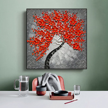 Abstract Tree Flower Canvas Painting Wall Art Posters And Prints Modern Room Decoration Wall Pictures For Living Room Home Decor flower tree abstract canvas painting wall art posters and prints wall home decor art picture for living room bedroom decoration