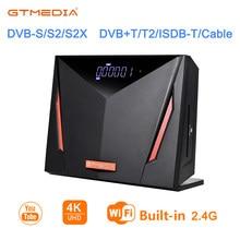 Спутниковый ресивер GTmedia V8 UHD 4K H.265, встроенный 2,4G Wi-Fi, кабель DVB-T2 S2, умная Поддержка DVB T2 ACM, ТВ-приставка