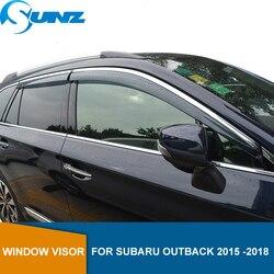 Боковое окно дефлектор для Subaru Outback 2015 2016 2017 дым солнце дождевик Погодный щит SUNZ