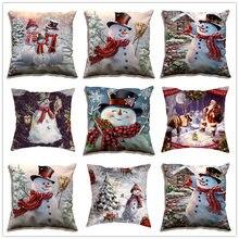 1 шт Рождественский чехол с изображением снеговика Санты для