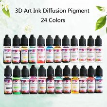 Diffusion Alcohol-Resin Pigment-Kit Liquid Jewelry-Making Colorant-Dye-Ink 24-Colors