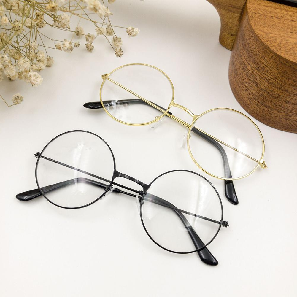 2019 New Man Woman Retro Large Round Glasses Transparent Metal Eyeglass Frame Black Silver Gold Spectacles Eyeglasses