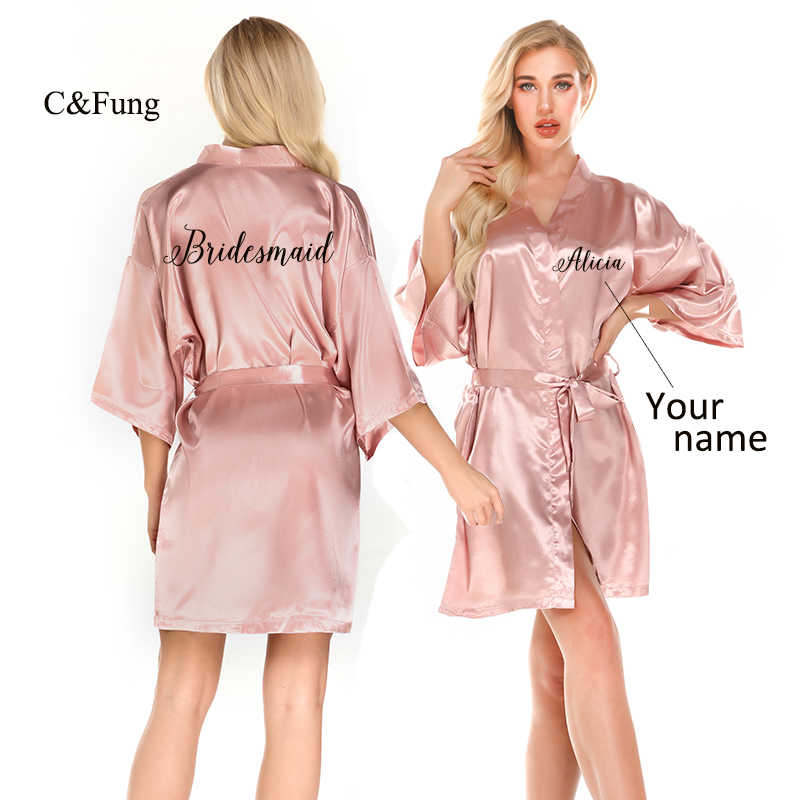 Satin Robes Personalised Satin Robes Custom Satin Robes Wedding Robes Bride To Be Robes Bridesmaid Robes Satin Robe Gift For Bridesmaid