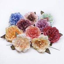 2/5/10 Pieces 10CM Silk peonies cheap artificial flowers for home decoration christmas garland wedding decorative flowers wall(China)
