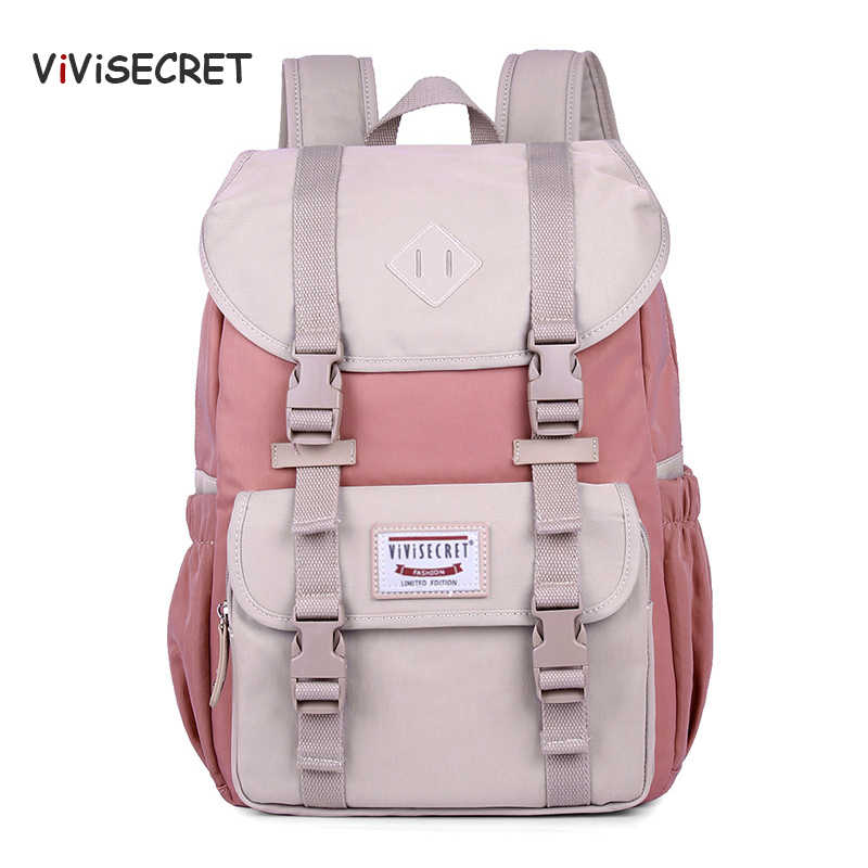VIVISECRET New Hot Multifunction Women Backpack High Quality canvas laptop backpack schoolbag for teenager girls travel Bagpack