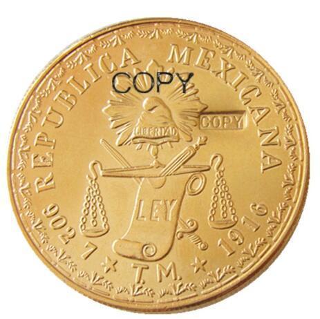 1916 Мексика 60 людей Позолоченные Имитация монеты